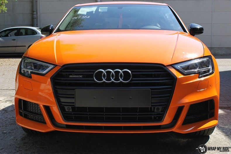 Audi A3 Gloss Burnt Orange, Carwrapping door Wrapmyride.nu Foto-nr:10871, ©2020