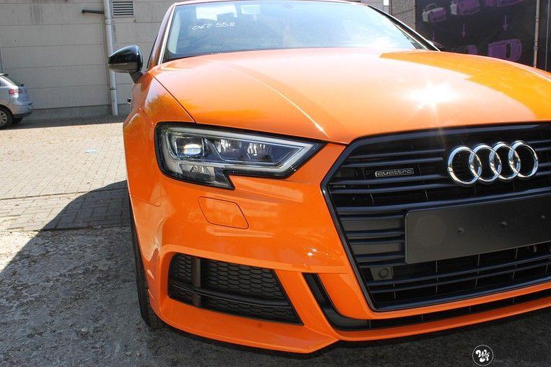 Audi A3 Gloss Burnt Orange, Carwrapping door Wrapmyride.nu Foto-nr:10870, ©2021