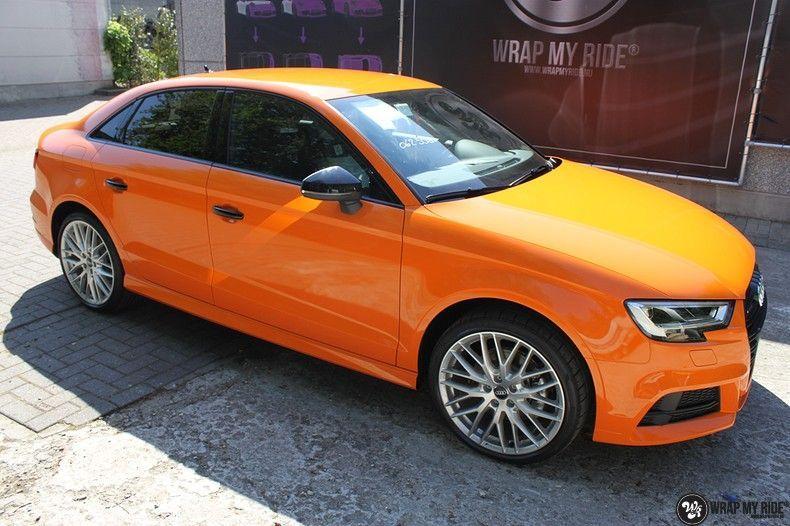 Audi A3 Gloss Burnt Orange, Carwrapping door Wrapmyride.nu Foto-nr:10867, ©2021