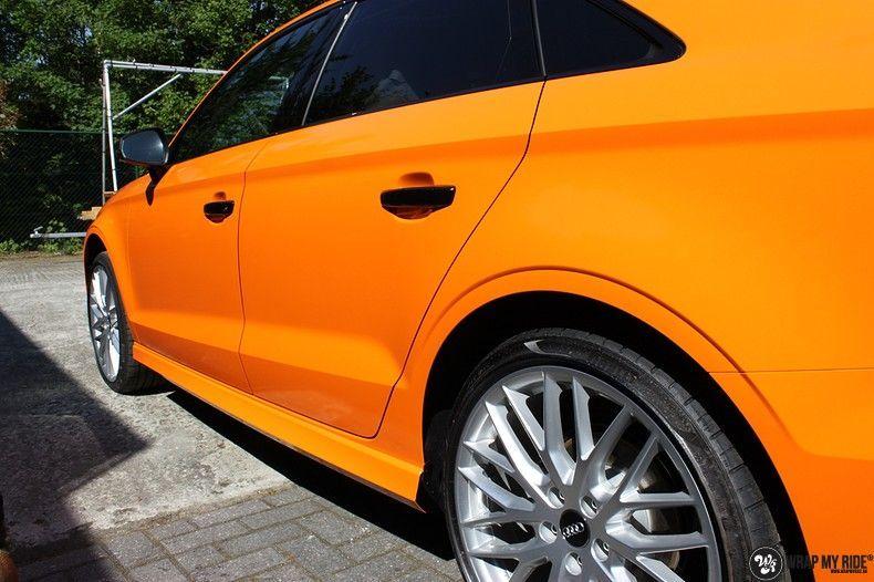 Audi A3 Gloss Burnt Orange, Carwrapping door Wrapmyride.nu Foto-nr:10866, ©2021