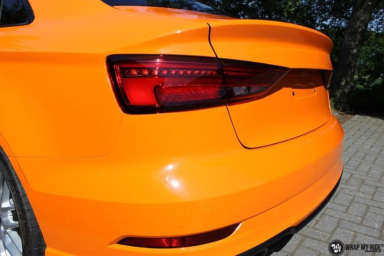 Audi A3 Gloss Burnt Orange, Carwrapping door Wrapmyride.nu Foto-nr:10865, ©2020