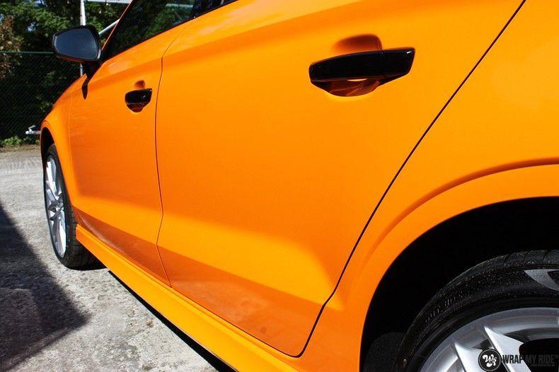 Audi A3 Gloss Burnt Orange, Carwrapping door Wrapmyride.nu Foto-nr:10864, ©2021