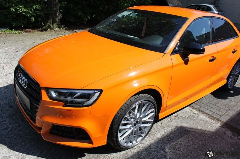 Audi A3 Gloss Burnt Orange, Carwrapping door Wrapmyride.nu Foto-nr:10863, ©2021