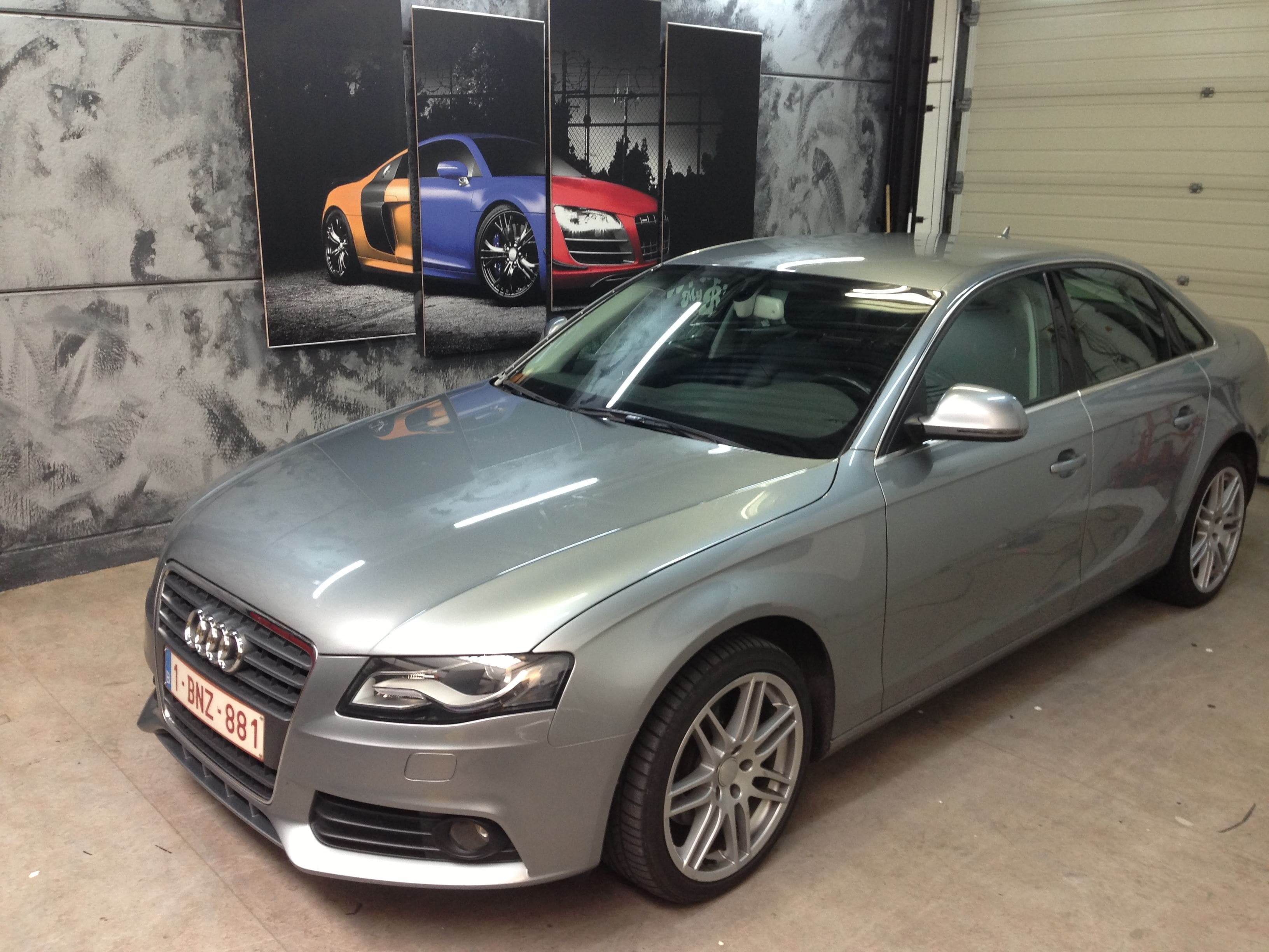 Audi A4 B6 met Gunpowder Wrap, Carwrapping door Wrapmyride.nu Foto-nr:4502, ©2021