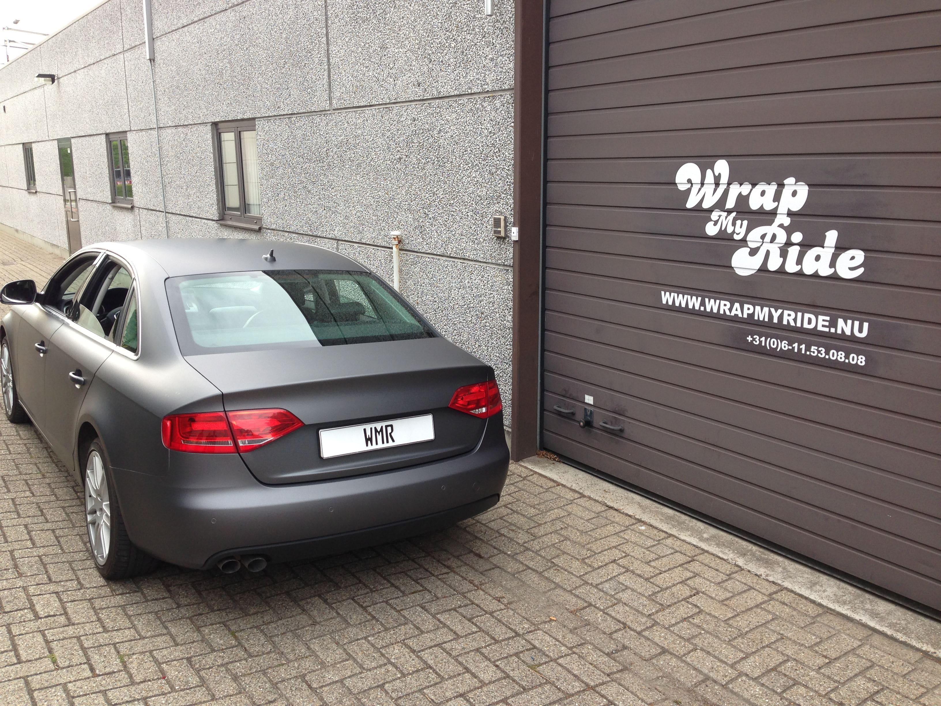 Audi A4 B6 met Gunpowder Wrap, Carwrapping door Wrapmyride.nu Foto-nr:4506, ©2021