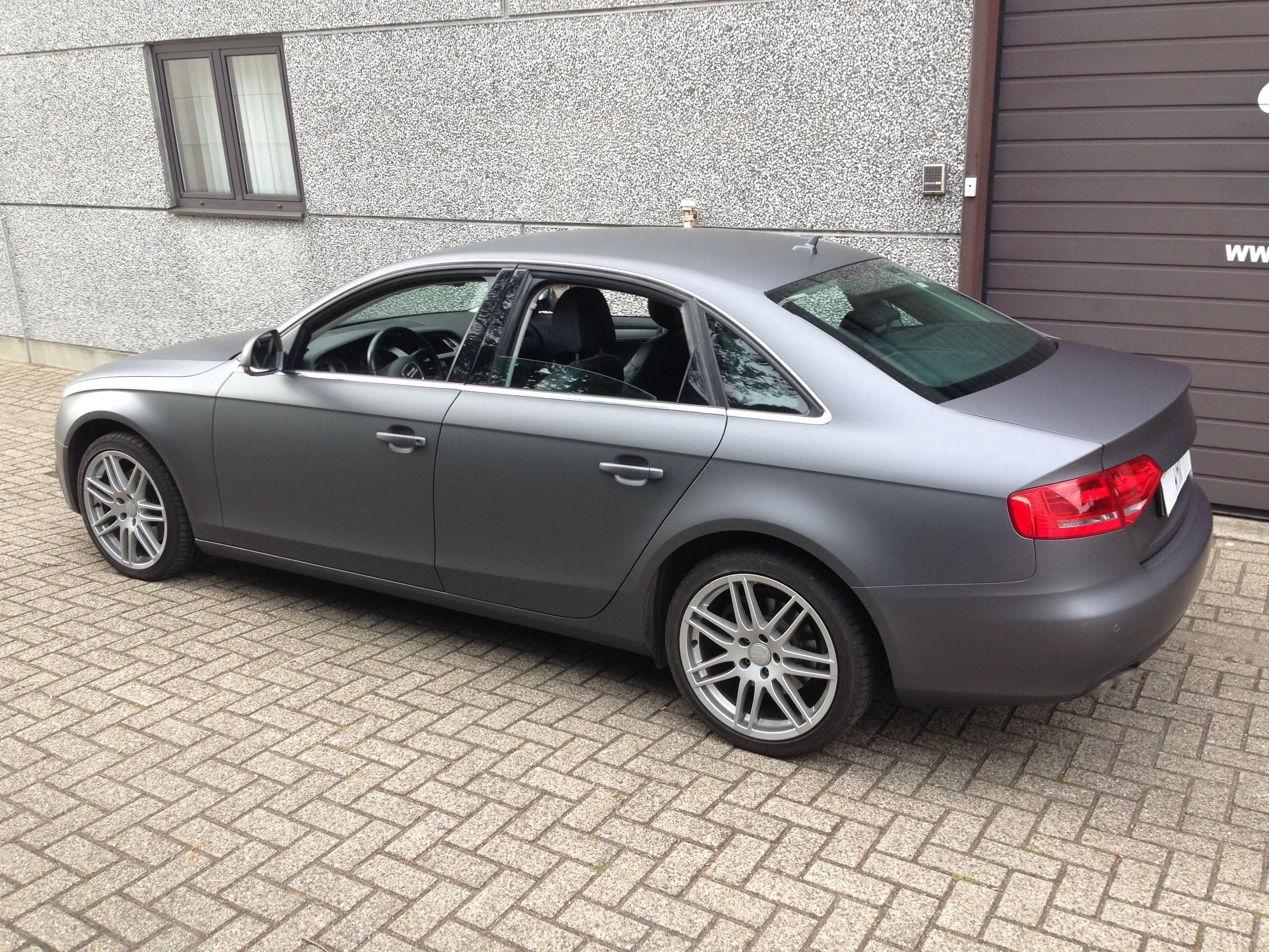 Audi A4 B6 met Gunpowder Wrap, Carwrapping door Wrapmyride.nu Foto-nr:4507, ©2021
