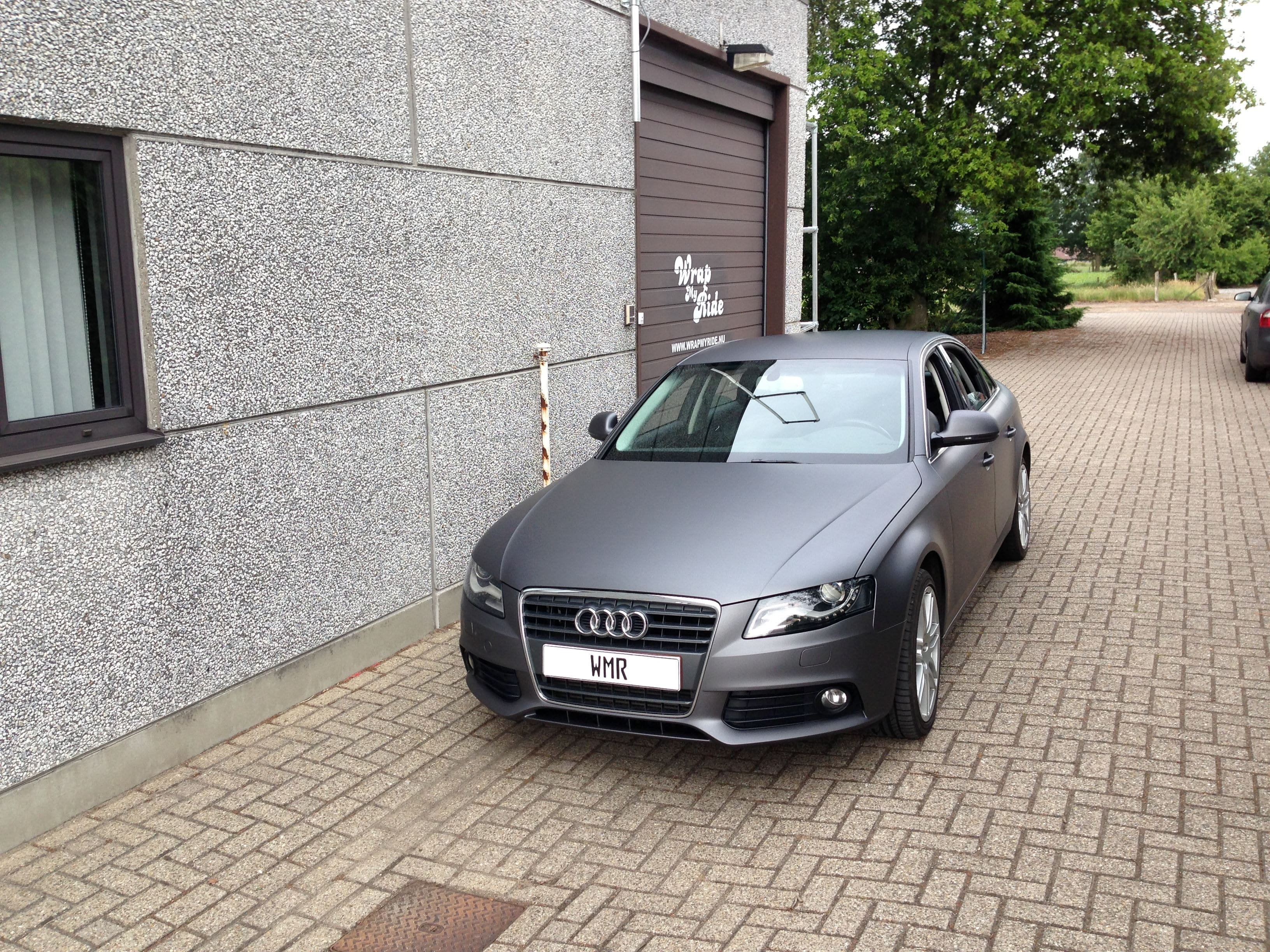 Audi A4 B6 met Gunpowder Wrap, Carwrapping door Wrapmyride.nu Foto-nr:4508, ©2021