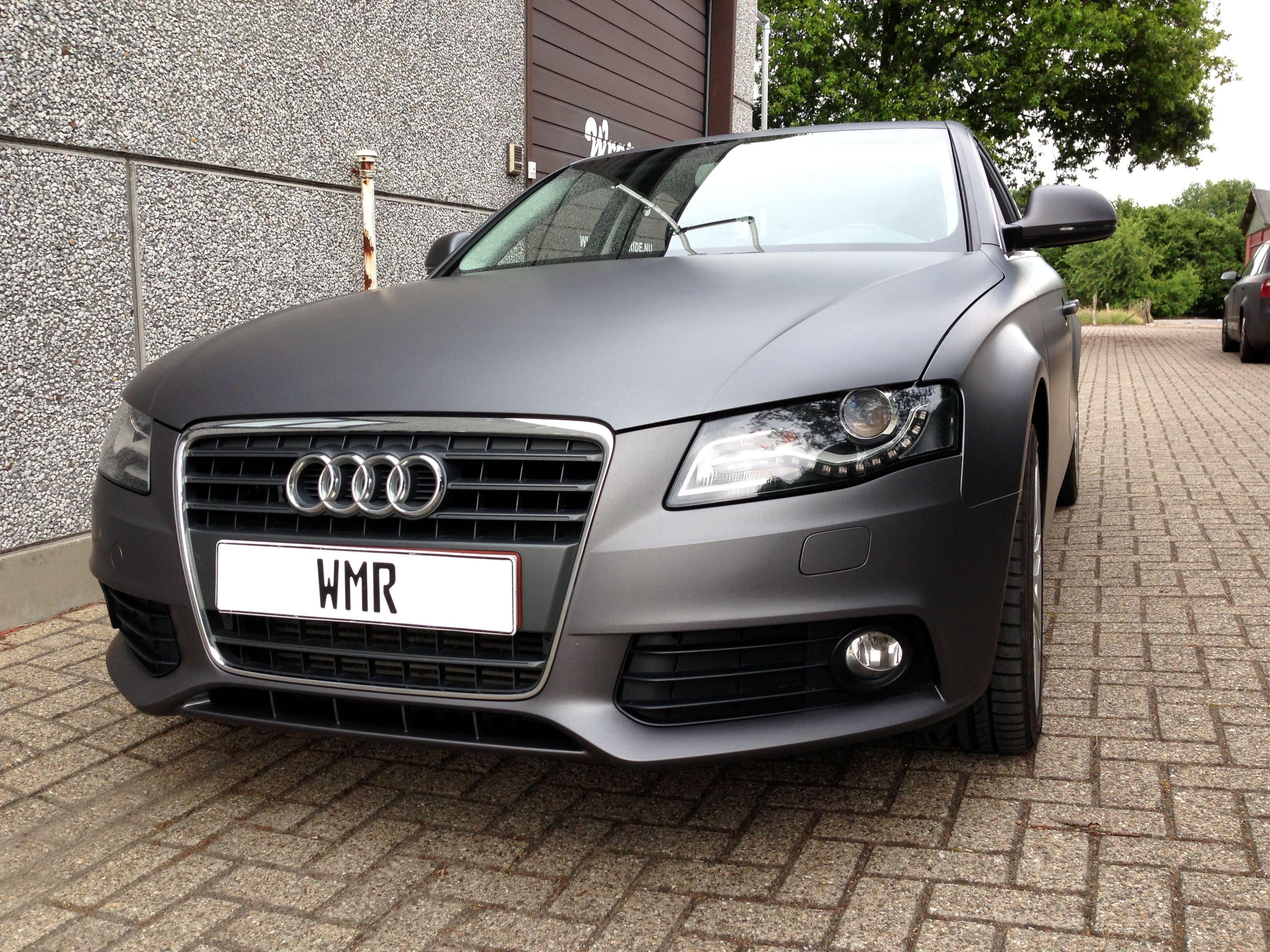 Audi A4 B6 met Gunpowder Wrap, Carwrapping door Wrapmyride.nu Foto-nr:4509, ©2021