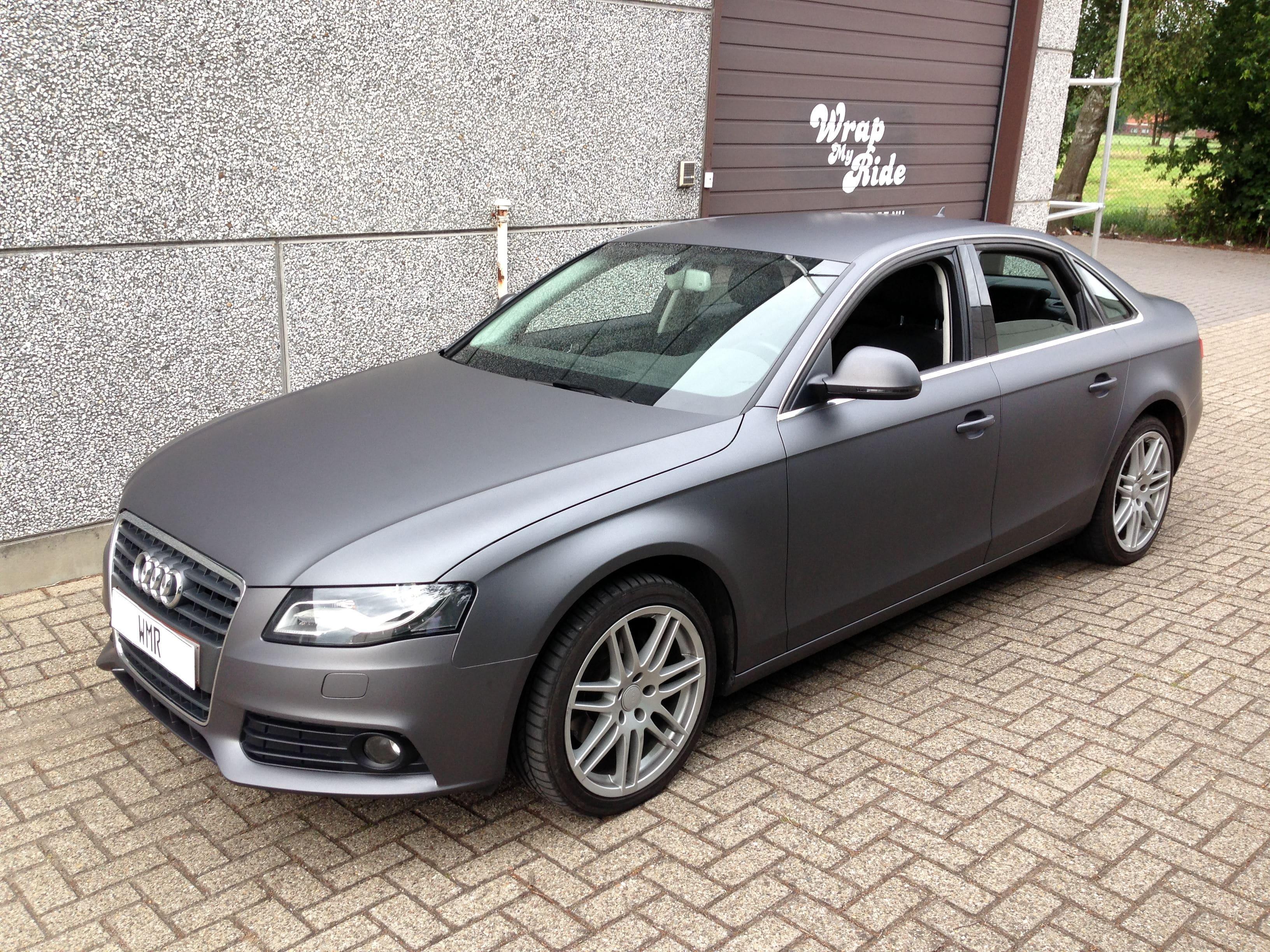 Audi A4 B6 met Gunpowder Wrap, Carwrapping door Wrapmyride.nu Foto-nr:4510, ©2021