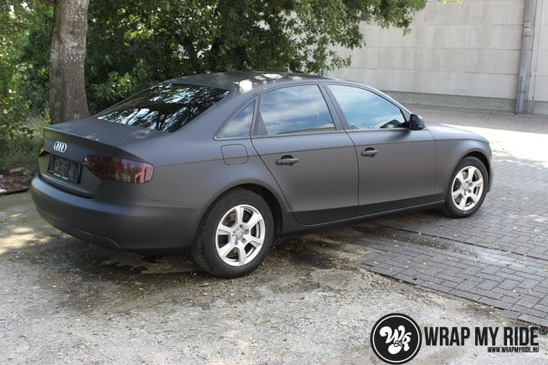 Audi A4 matte zwart, Carwrapping door Wrapmyride.nu Foto-nr:7907, ©2021