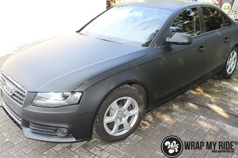 Audi A4 matte zwart, Carwrapping door Wrapmyride.nu Foto-nr:7916, ©2021
