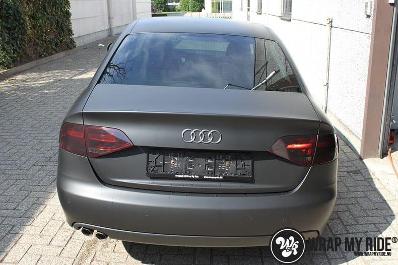 Audi A4 matte zwart, Carwrapping door Wrapmyride.nu Foto-nr:7918, ©2020