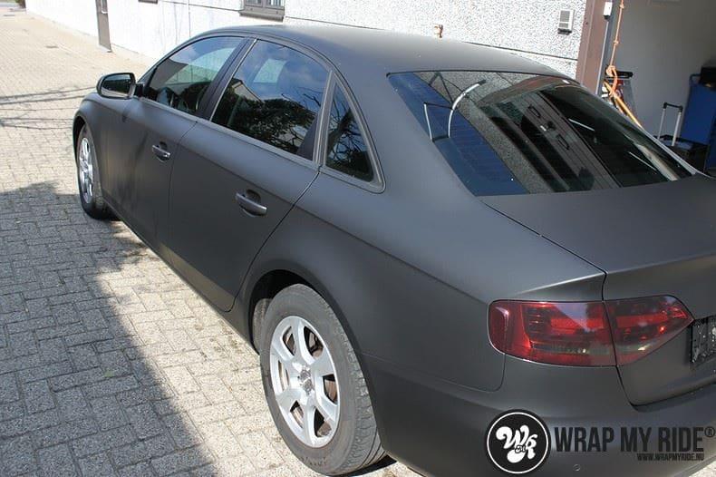 Audi A4 matte zwart, Carwrapping door Wrapmyride.nu Foto-nr:7919, ©2020