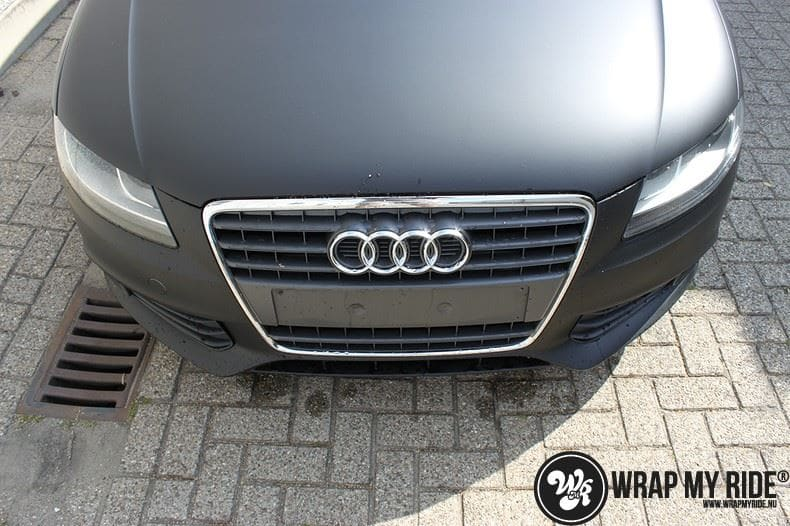 Audi A4 matte zwart, Carwrapping door Wrapmyride.nu Foto-nr:7921, ©2021