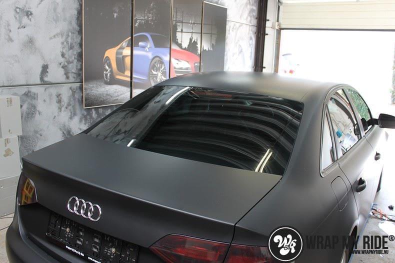Audi A4 matte zwart, Carwrapping door Wrapmyride.nu Foto-nr:7922, ©2021