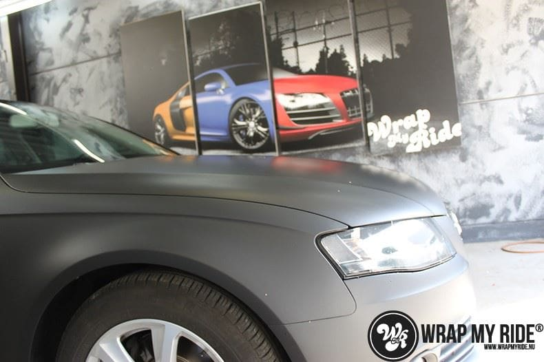 Audi A4 matte zwart, Carwrapping door Wrapmyride.nu Foto-nr:7923, ©2020