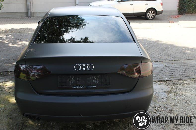 Audi A4 matte zwart, Carwrapping door Wrapmyride.nu Foto-nr:7908, ©2021