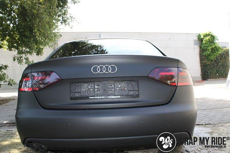 Audi A4 matte zwart, Carwrapping door Wrapmyride.nu Foto-nr:7909, ©2021