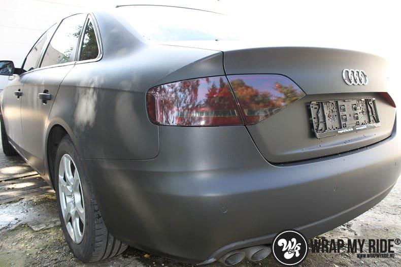 Audi A4 matte zwart, Carwrapping door Wrapmyride.nu Foto-nr:7911, ©2020
