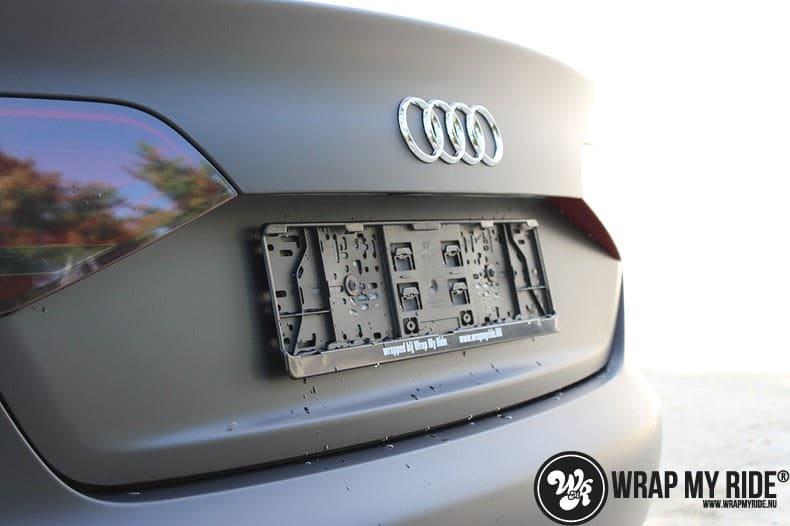 Audi A4 matte zwart, Carwrapping door Wrapmyride.nu Foto-nr:7912, ©2021