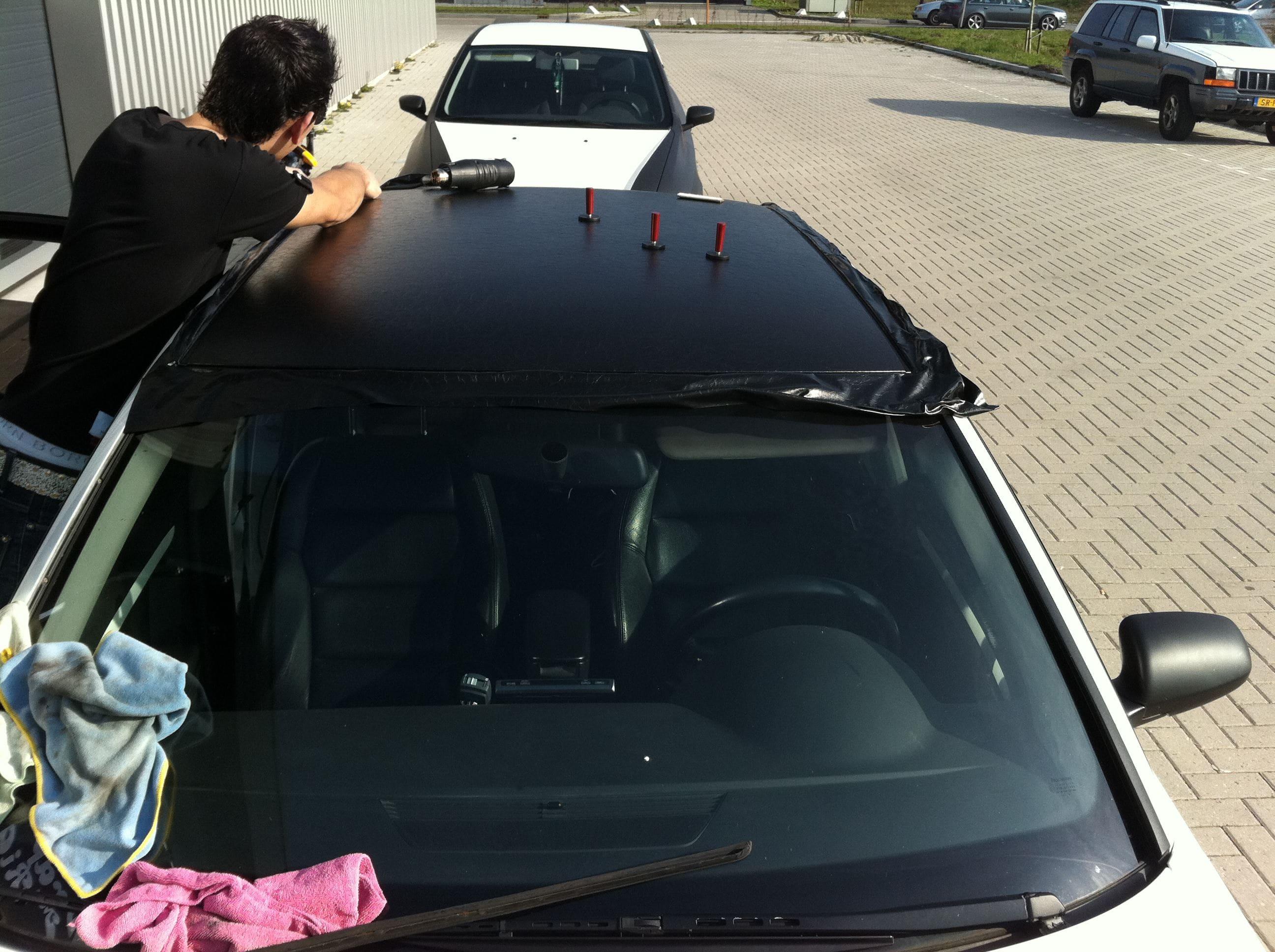 Audi A4 met Witte Parelmoer Wrap, Carwrapping door Wrapmyride.nu Foto-nr:4526, ©2021