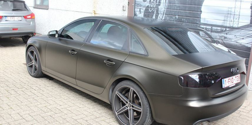 Audi A4 satin gold dust