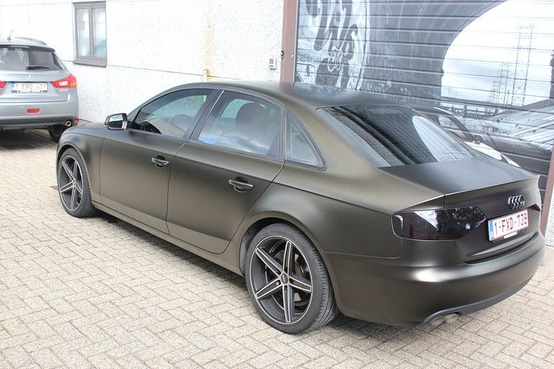 Audi A4 satin gold dust, Carwrapping door Wrapmyride.nu Foto-nr:11988, ©2019