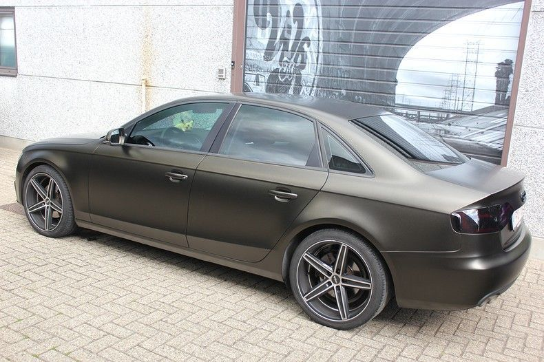 Audi A4 satin gold dust, Carwrapping door Wrapmyride.nu Foto-nr:11989, ©2021