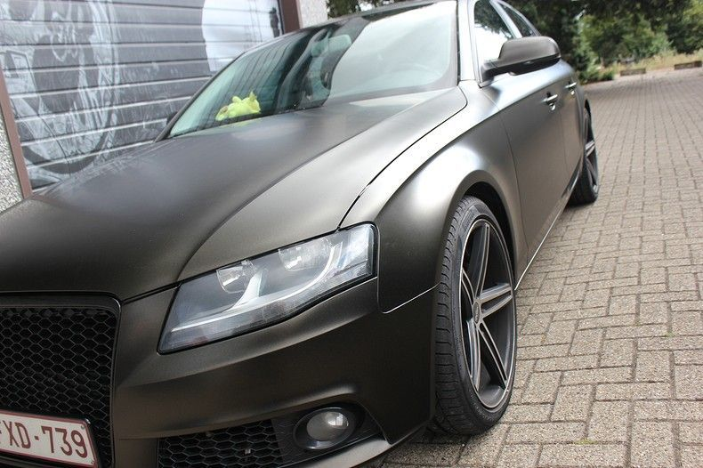 Audi A4 satin gold dust, Carwrapping door Wrapmyride.nu Foto-nr:11991, ©2021