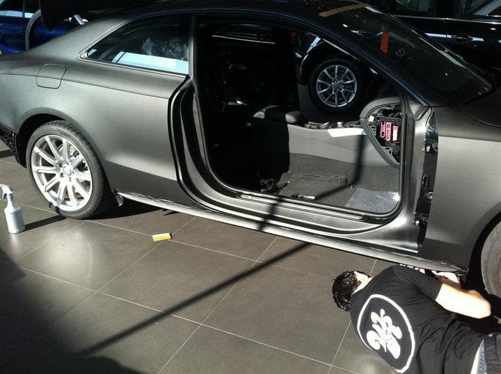 Audi A5 Coupe met Mat Zwarte Wrap, Carwrapping door Wrapmyride.nu Foto-nr:4547, ©2021