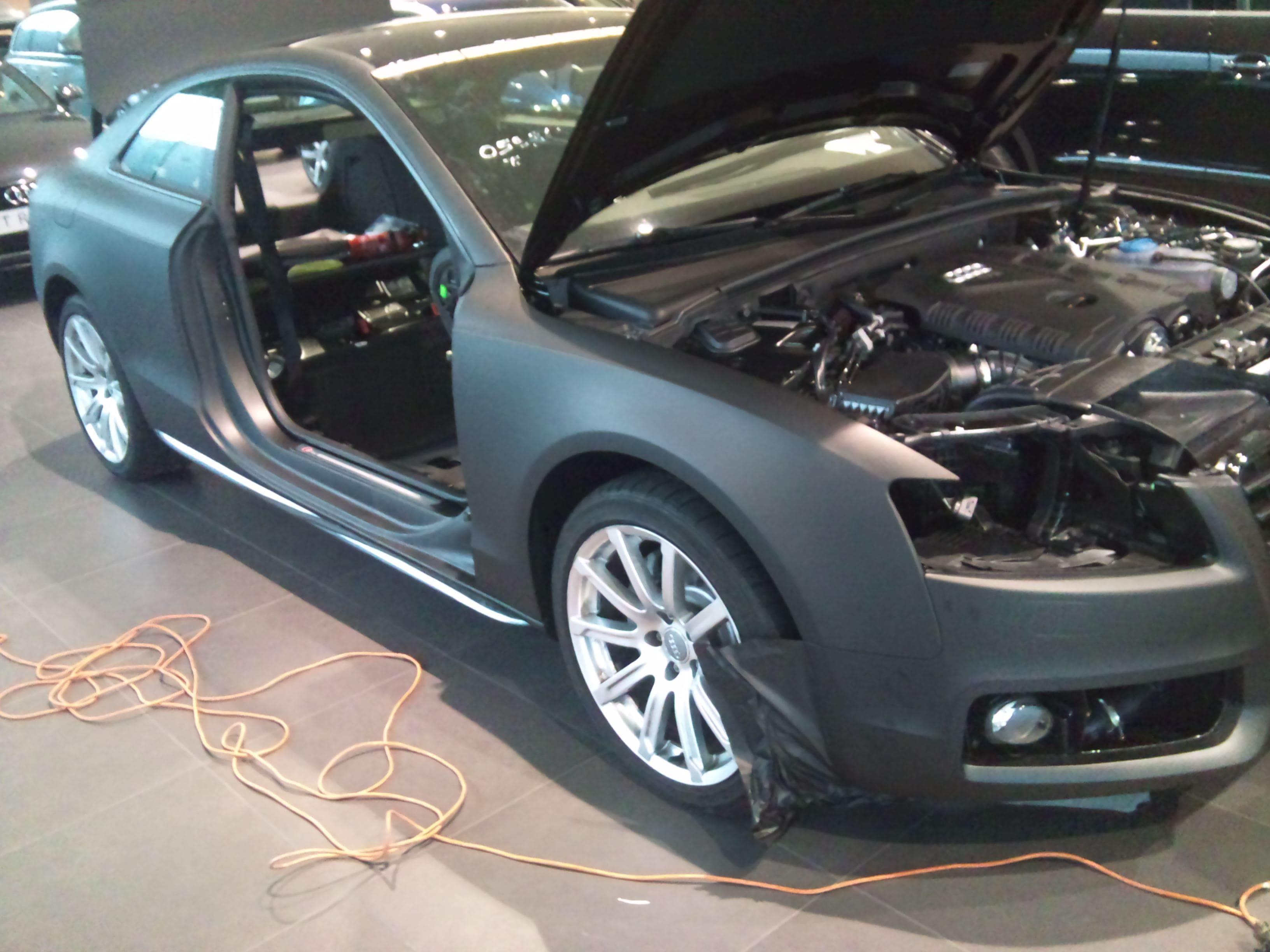 Audi A5 Coupe met Mat Zwarte Wrap, Carwrapping door Wrapmyride.nu Foto-nr:4553, ©2021