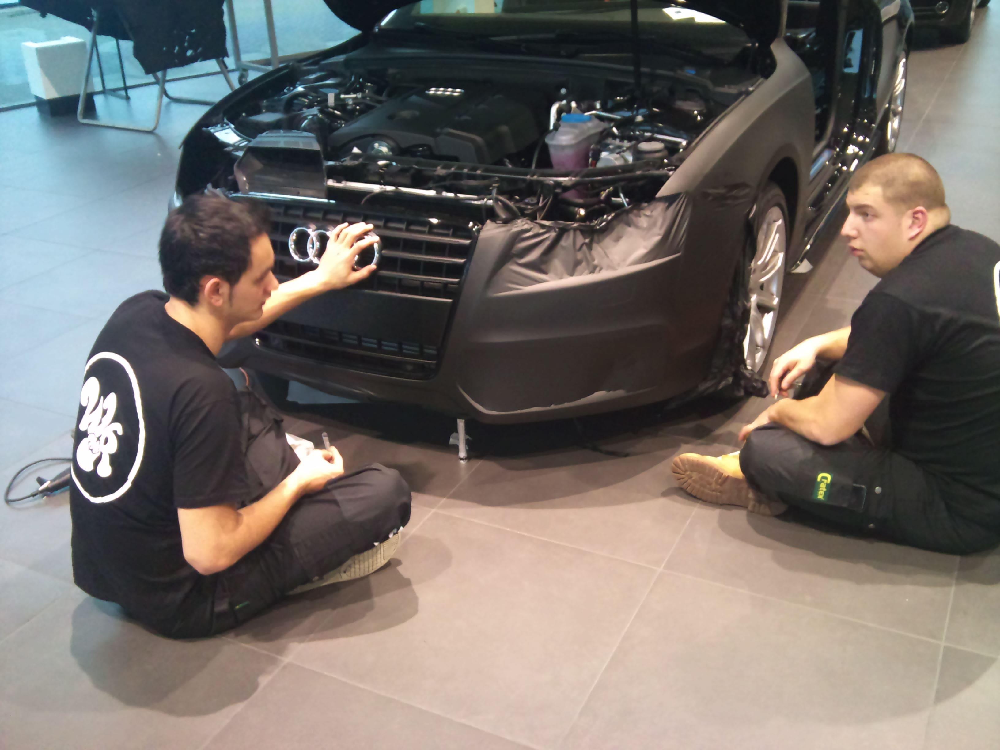 Audi A5 Coupe met Mat Zwarte Wrap, Carwrapping door Wrapmyride.nu Foto-nr:4555, ©2021