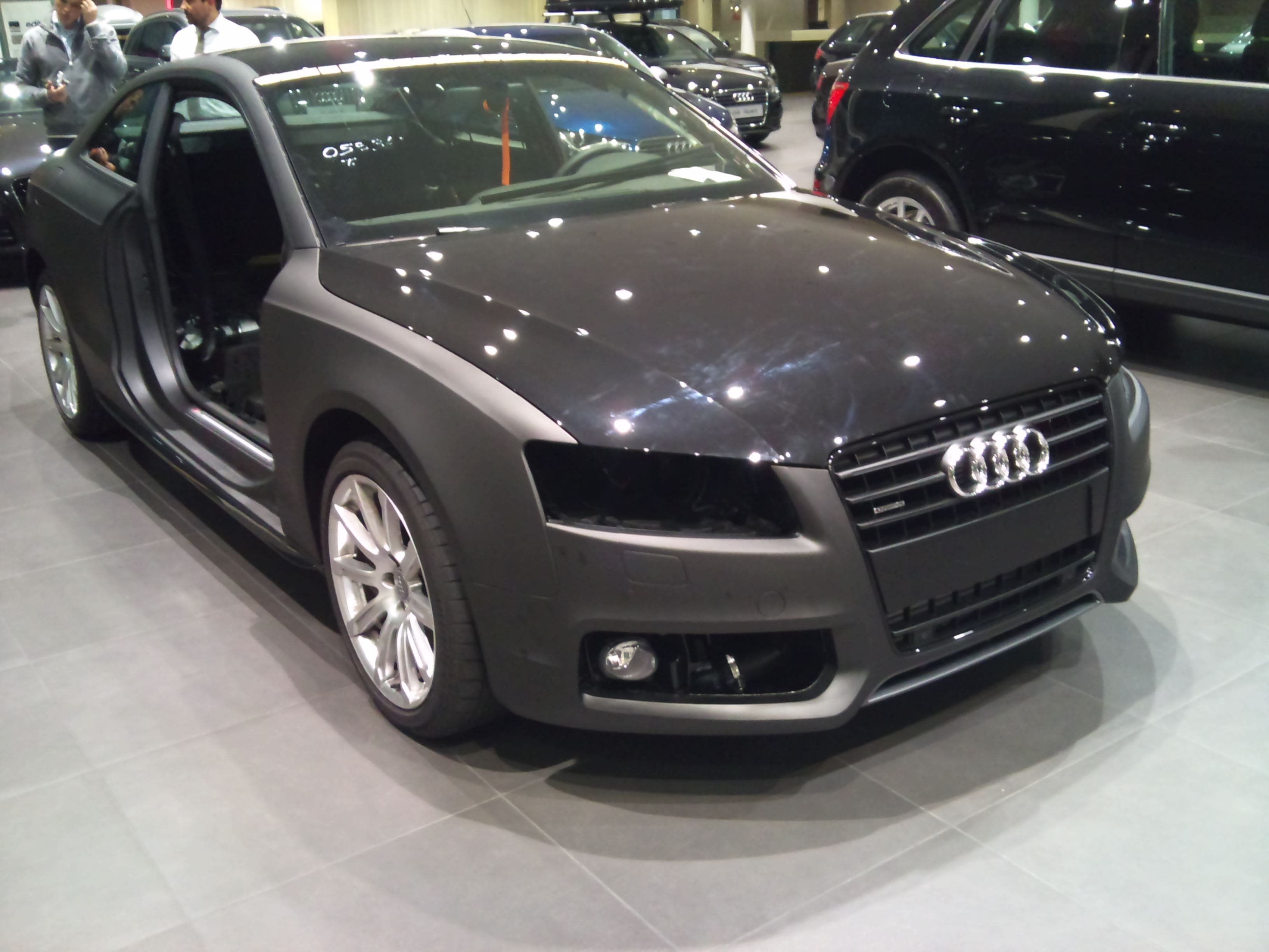 Audi A5 Coupe met Mat Zwarte Wrap, Carwrapping door Wrapmyride.nu Foto-nr:4557, ©2021
