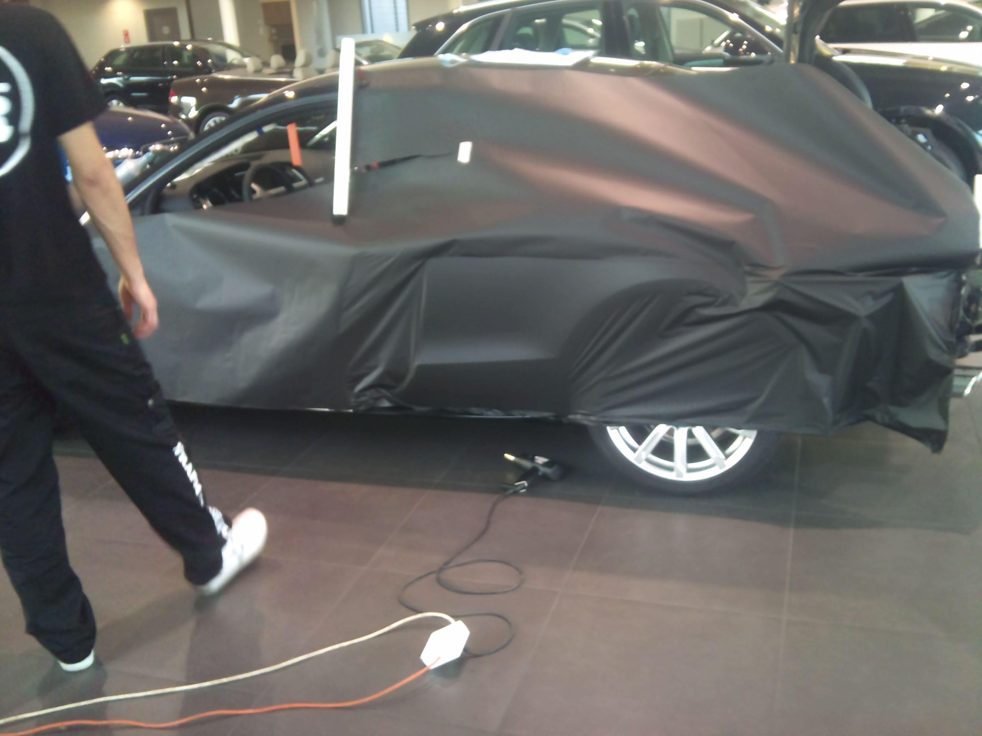 Audi A5 Coupe met Mat Zwarte Wrap, Carwrapping door Wrapmyride.nu Foto-nr:4559, ©2021
