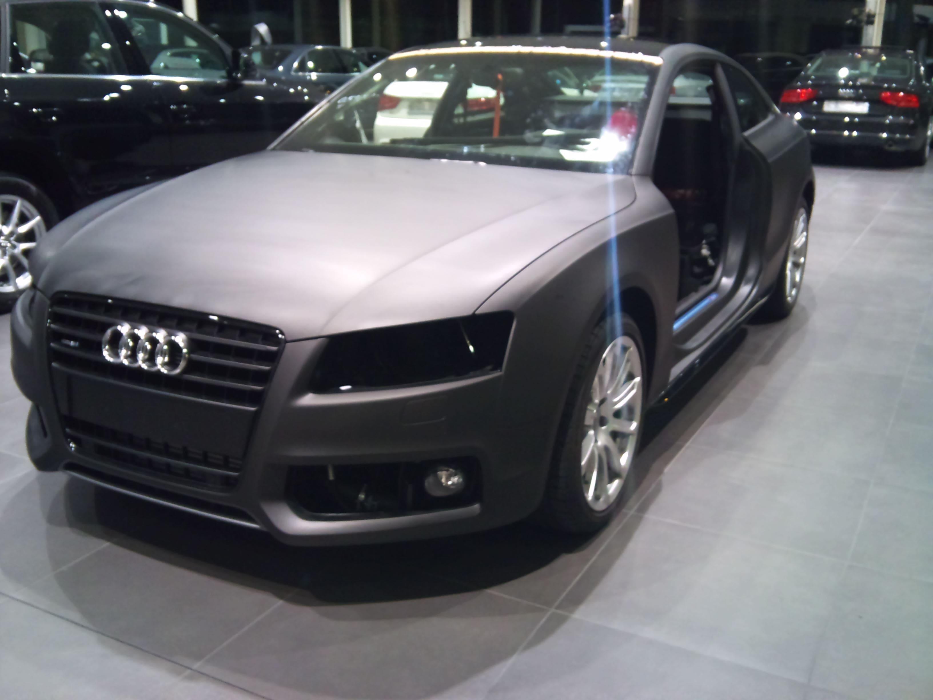 Audi A5 Coupe met Mat Zwarte Wrap, Carwrapping door Wrapmyride.nu Foto-nr:4562, ©2021