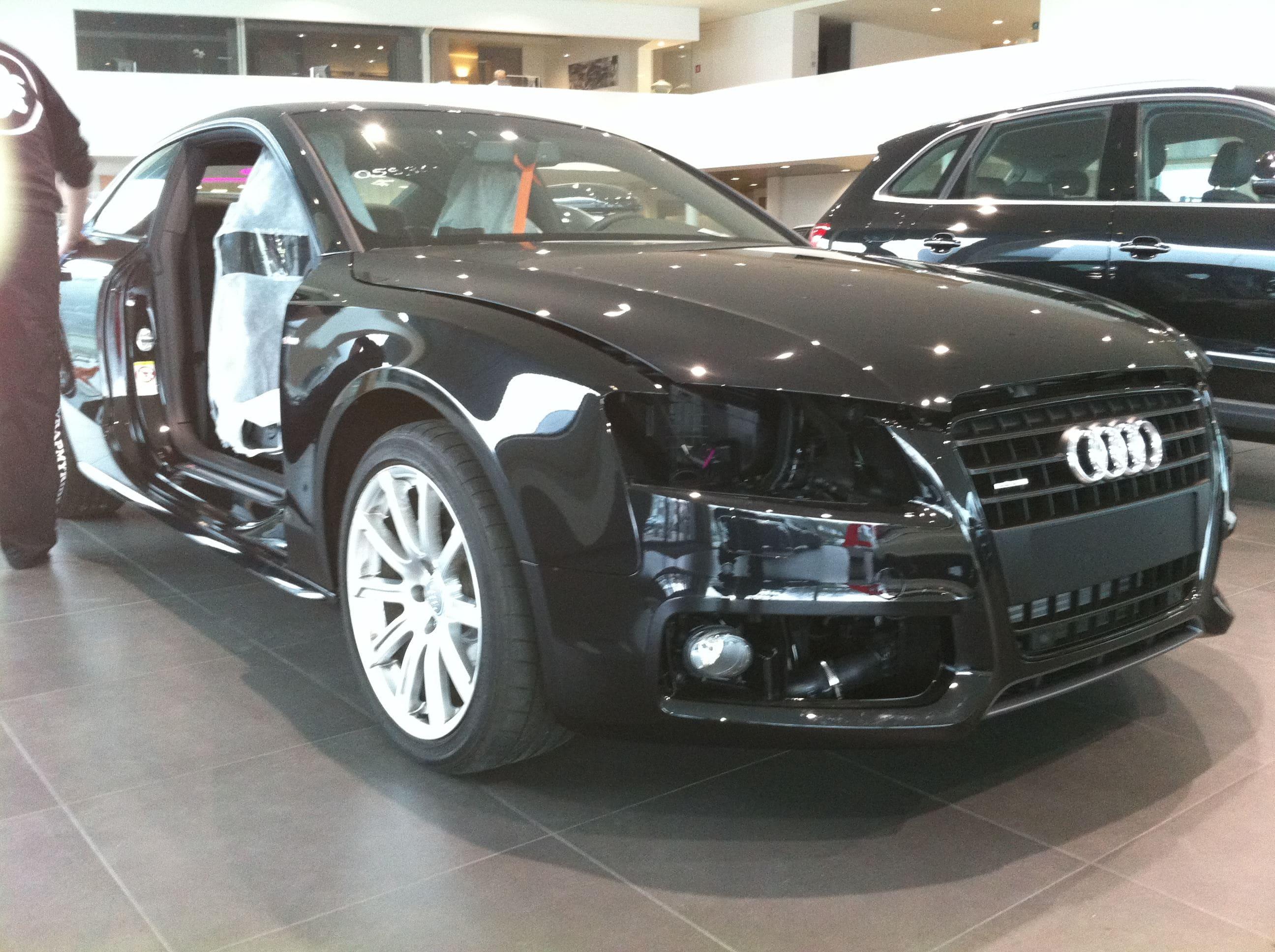 Audi A5 Coupe met Mat Zwarte Wrap, Carwrapping door Wrapmyride.nu Foto-nr:4570, ©2021