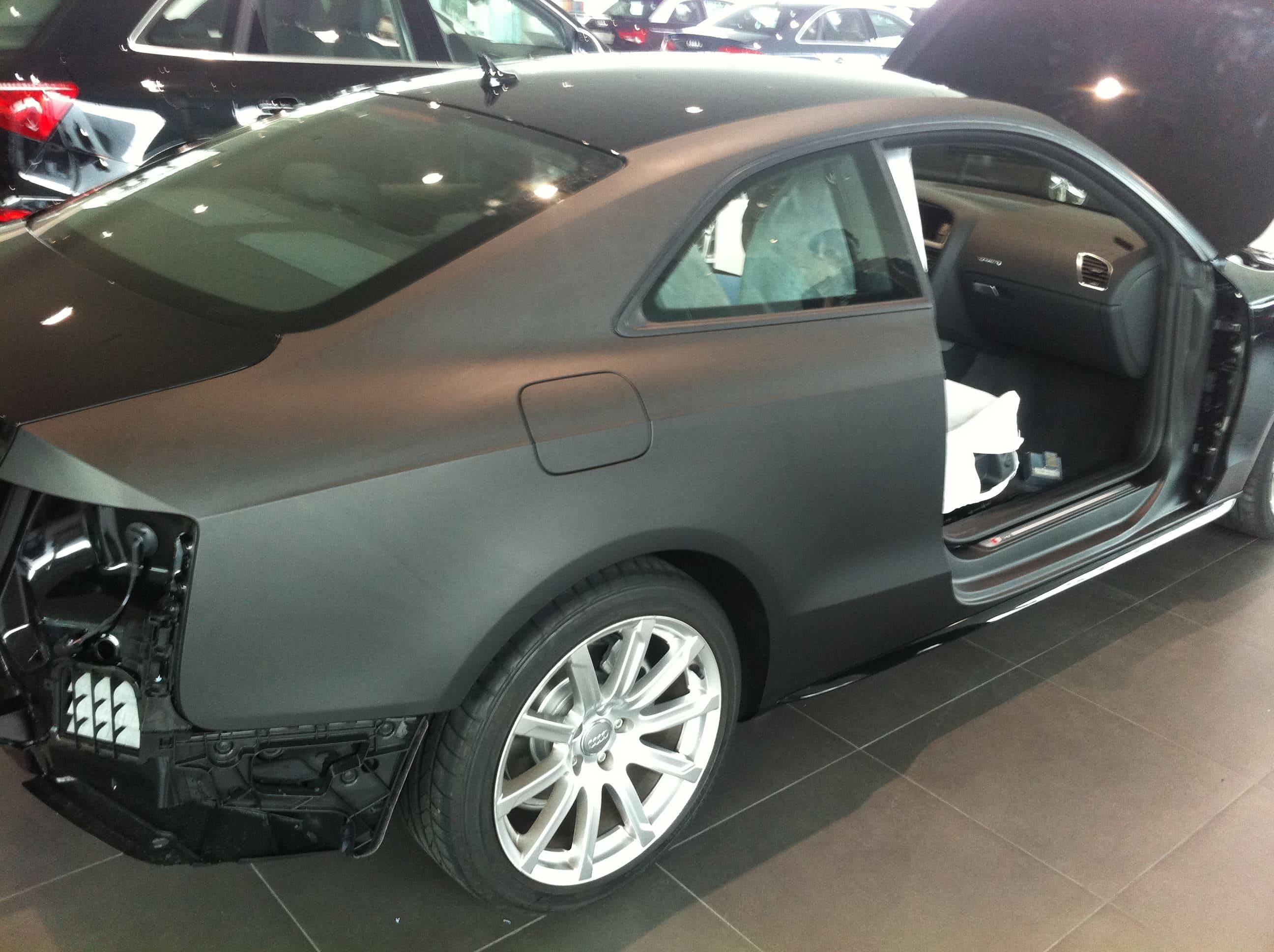 Audi A5 Coupe met Mat Zwarte Wrap, Carwrapping door Wrapmyride.nu Foto-nr:4571, ©2021