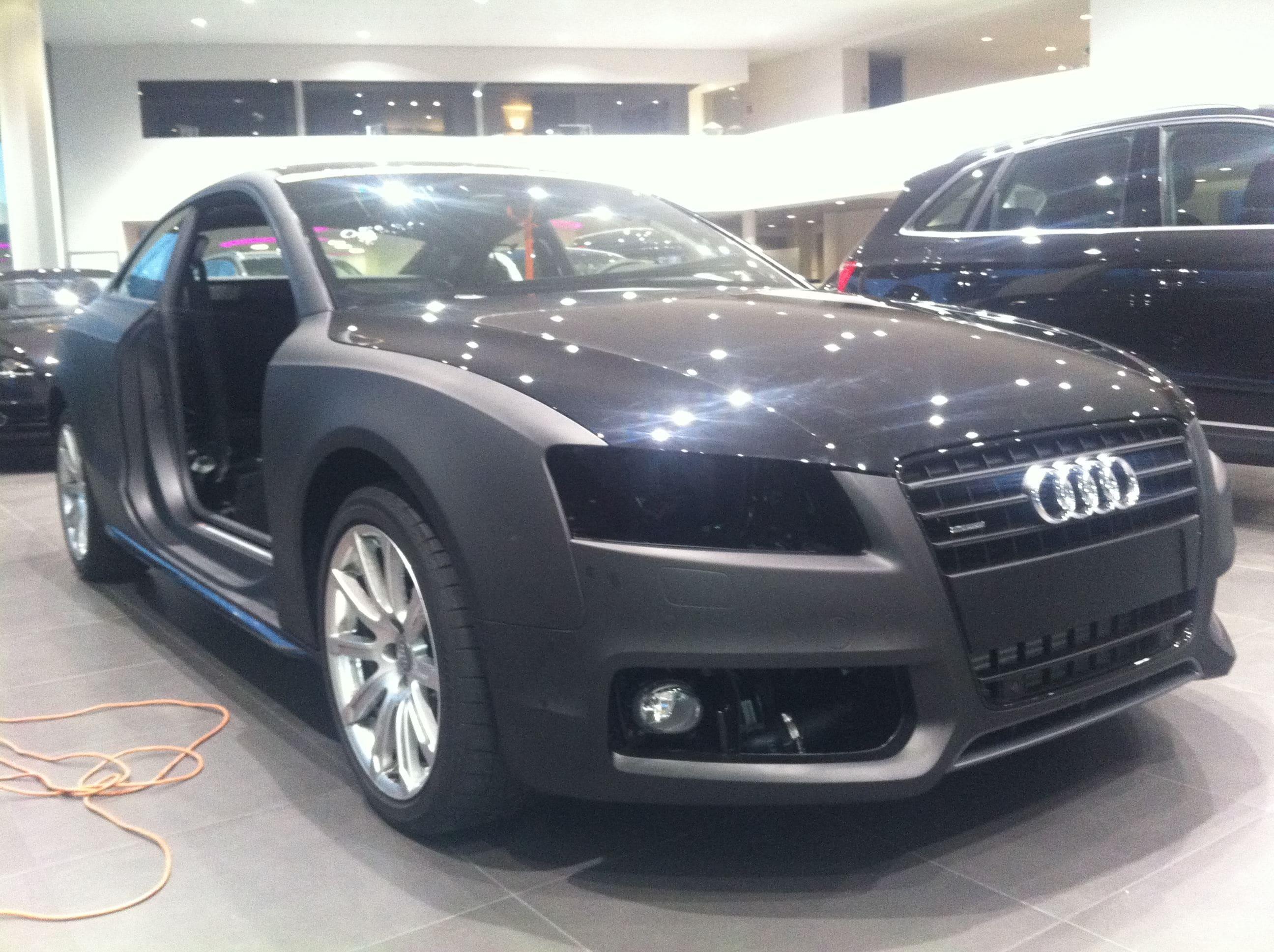 Audi A5 Coupe met Mat Zwarte Wrap, Carwrapping door Wrapmyride.nu Foto-nr:4572, ©2021