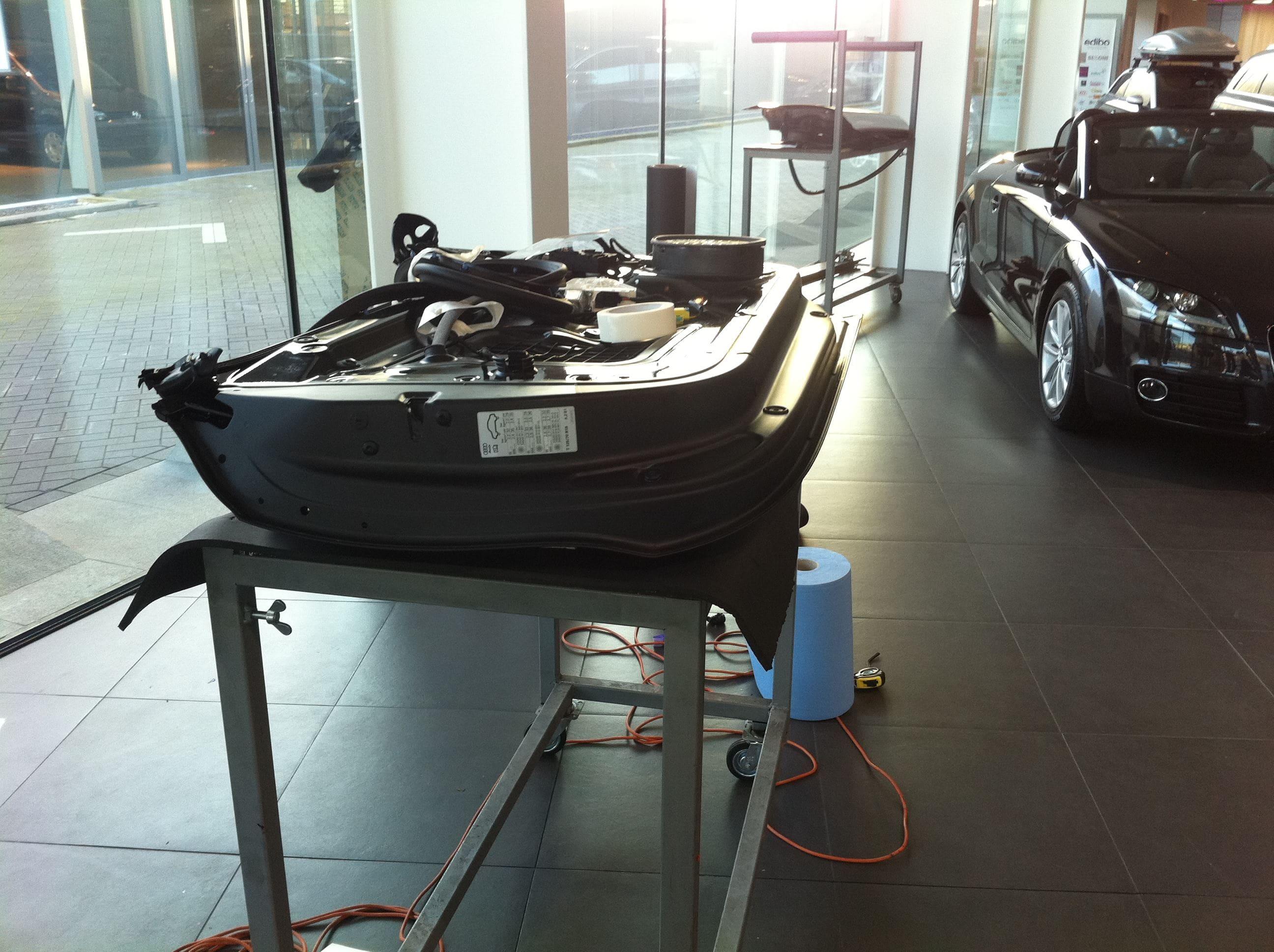Audi A5 Coupe met Mat Zwarte Wrap, Carwrapping door Wrapmyride.nu Foto-nr:4584, ©2021