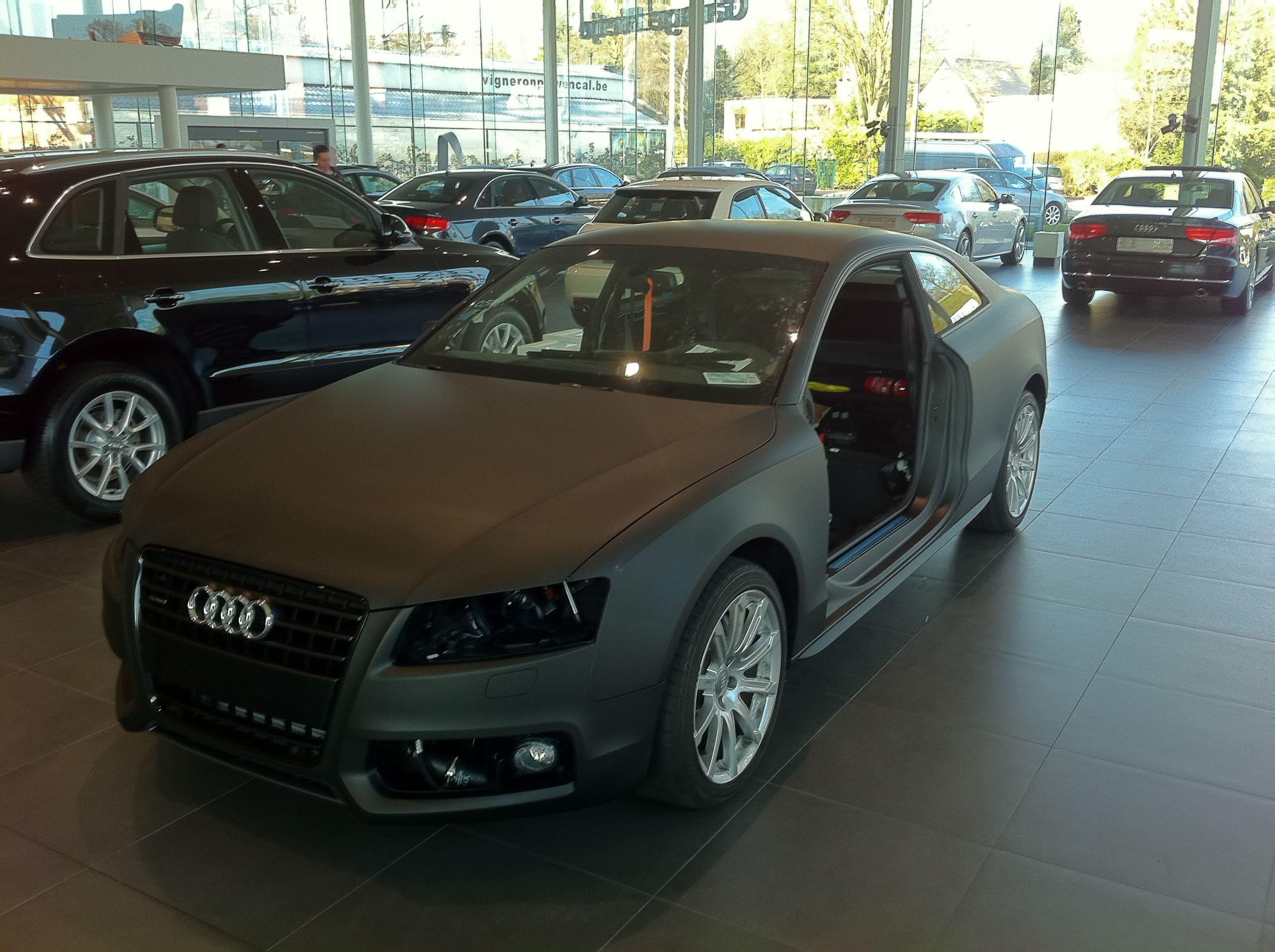 Audi A5 Coupe met Mat Zwarte Wrap, Carwrapping door Wrapmyride.nu Foto-nr:4586, ©2021