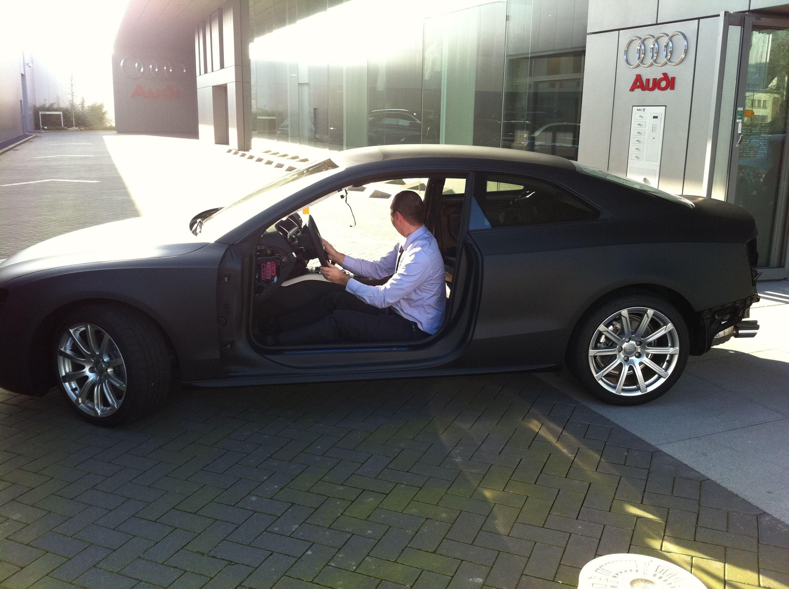 Audi A5 Coupe met Mat Zwarte Wrap, Carwrapping door Wrapmyride.nu Foto-nr:4588, ©2021