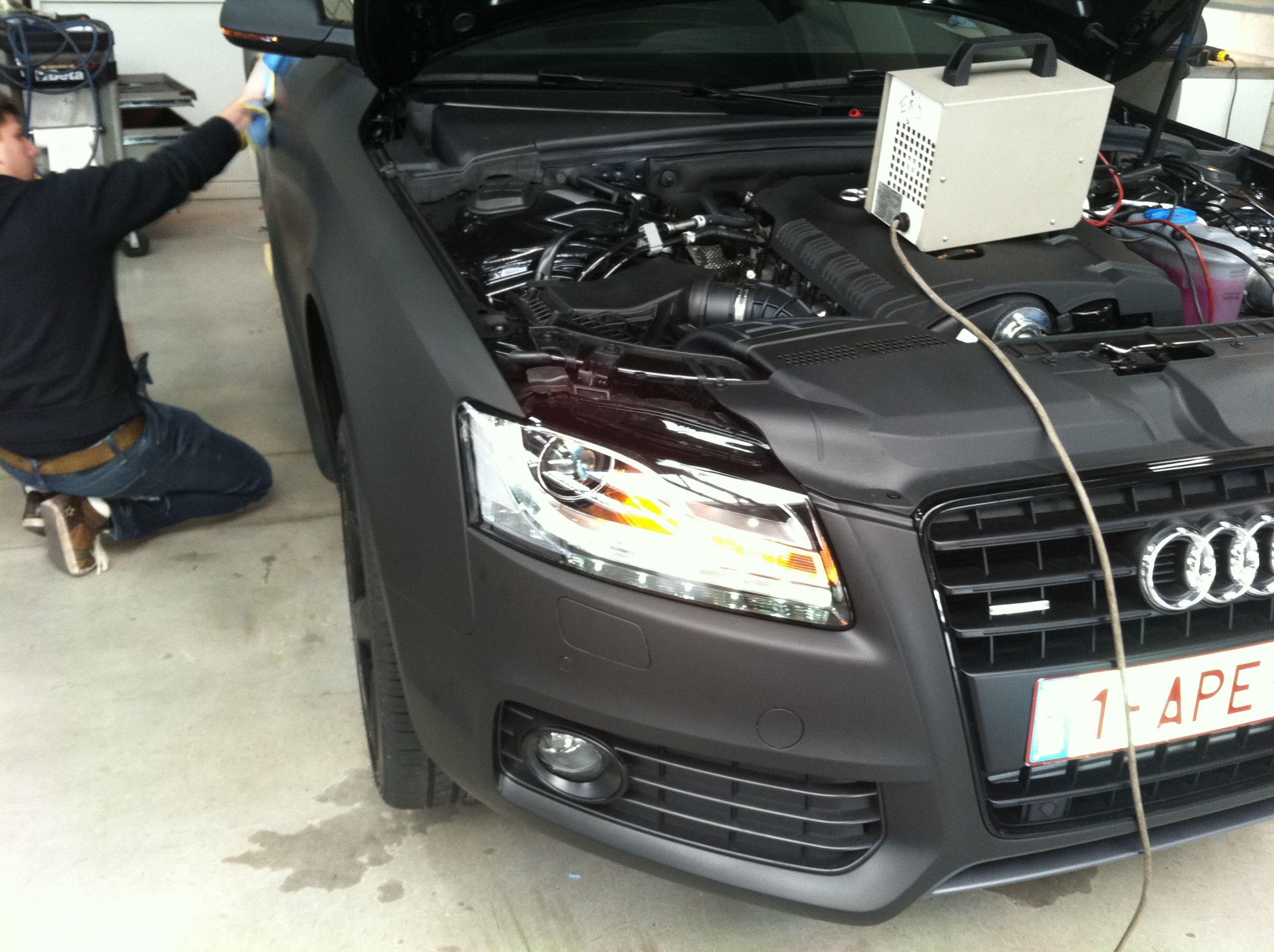 Audi A5 Coupe met Mat Zwarte Wrap, Carwrapping door Wrapmyride.nu Foto-nr:4589, ©2021