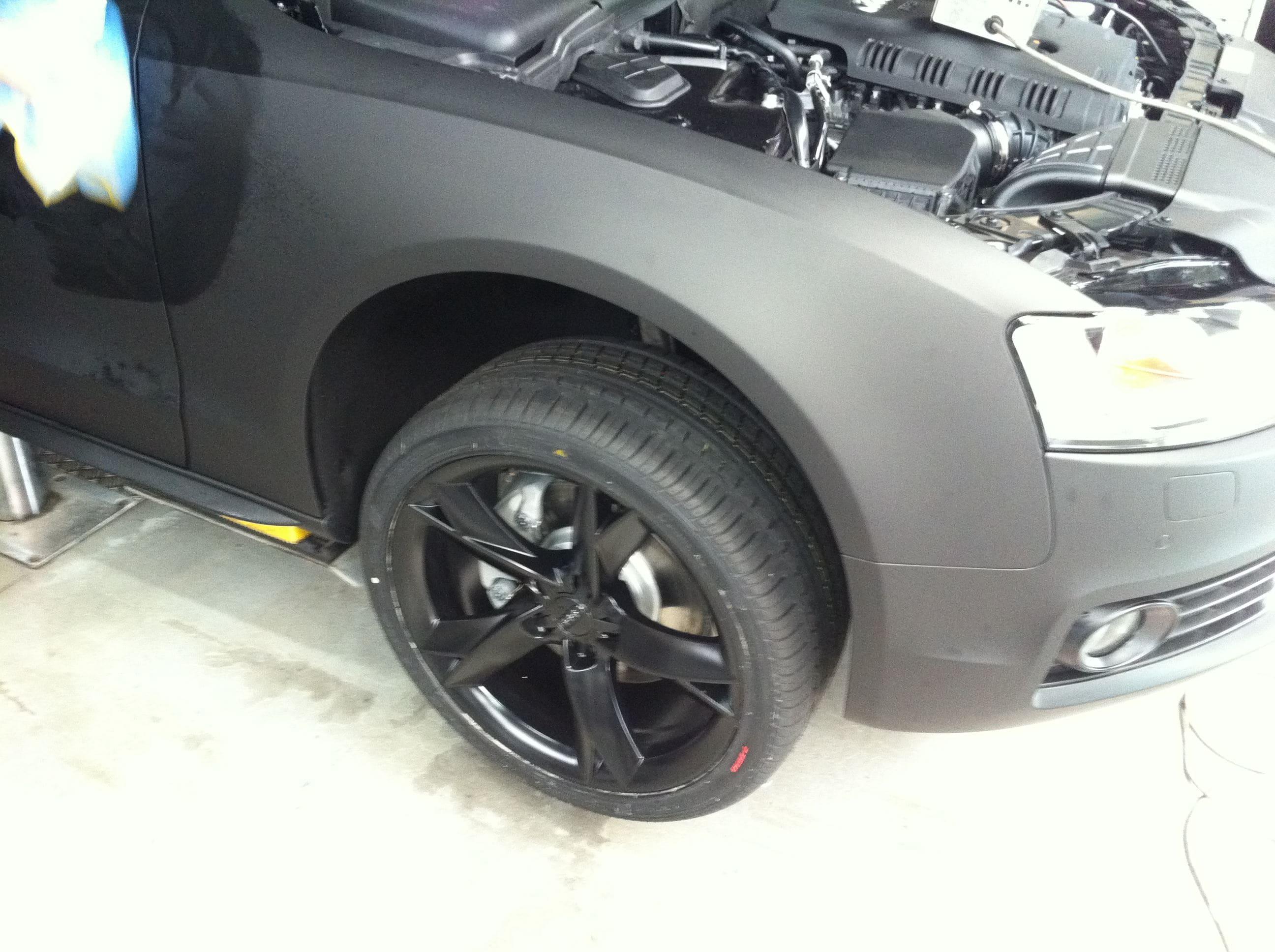 Audi A5 Coupe met Mat Zwarte Wrap, Carwrapping door Wrapmyride.nu Foto-nr:4590, ©2021