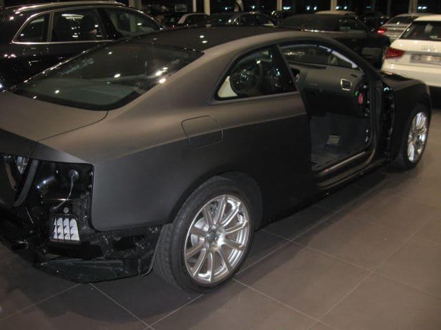 Audi A5 Coupe met Mat Zwarte Wrap, Carwrapping door Wrapmyride.nu Foto-nr:4597, ©2021