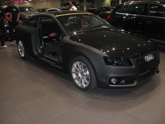 Audi A5 Coupe met Mat Zwarte Wrap, Carwrapping door Wrapmyride.nu Foto-nr:4598, ©2021