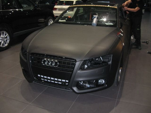 Audi A5 Coupe met Mat Zwarte Wrap, Carwrapping door Wrapmyride.nu Foto-nr:4599, ©2021