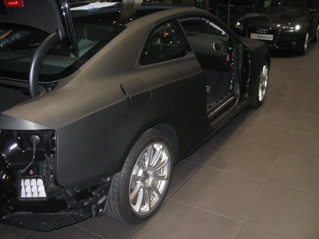 Audi A5 Coupe met Mat Zwarte Wrap, Carwrapping door Wrapmyride.nu Foto-nr:4600, ©2021