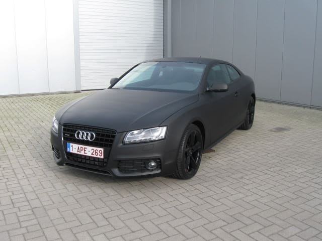 Audi A5 Coupe met Mat Zwarte Wrap, Carwrapping door Wrapmyride.nu Foto-nr:4601, ©2021