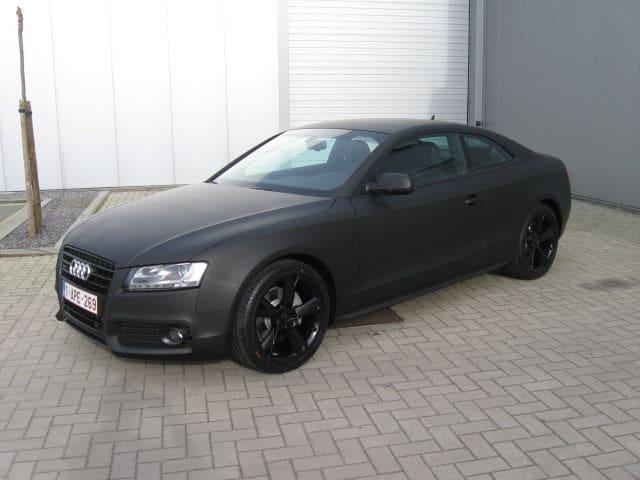 Audi A5 Coupe met Mat Zwarte Wrap, Carwrapping door Wrapmyride.nu Foto-nr:4602, ©2021
