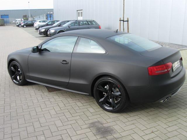 Audi A5 Coupe met Mat Zwarte Wrap, Carwrapping door Wrapmyride.nu Foto-nr:4603, ©2021